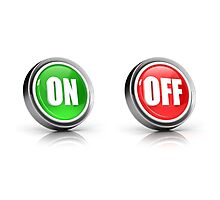 on or off choice or switch 3D icons Photographic Print
