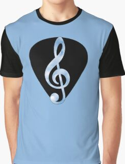 Guitar Pick Music Note Graphic T-Shirt