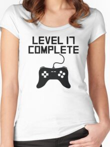 Level 17 Complete 17th Birthday Women's Fitted Scoop T-Shirt