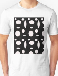 bLACK AND wHITE pOLKA dOT Unisex T-Shirt