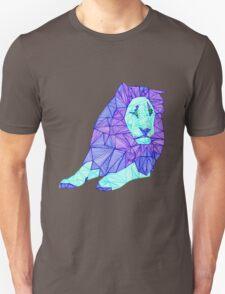 Blue Lined Lion Unisex T-Shirt