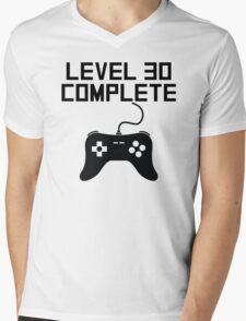 Level 30 Complete 30th Birthday Mens V-Neck T-Shirt
