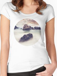 Sunset Seascape Women's Fitted Scoop T-Shirt