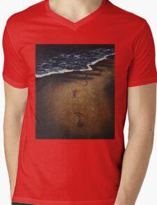 lonely walk with broken heart Mens V-Neck T-Shirt