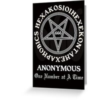 666 Anonymous Greeting Card