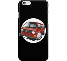 VW T3 bus caricature red iPhone Case/Skin