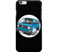 VW T3 bus caricature blue iPhone Case/Skin