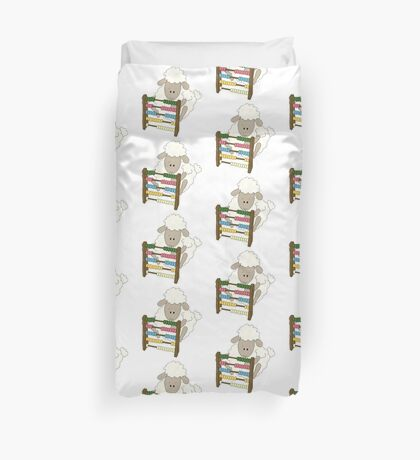 Counting Sheep.  Duvet Cover