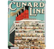 Cunard Line - To all parts of the world Vintage Travel Poster iPad Case/Skin