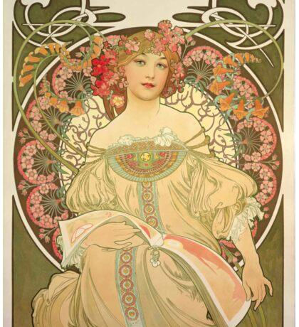 'Obraz' by Alphonse Mucha (Reproduction) Sticker