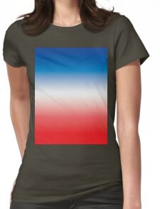 Red White & Blue Ombre Womens Fitted T-Shirt