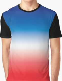 Red White & Blue Ombre Graphic T-Shirt