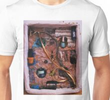 Snake in a box - inspired by Joseph Cornell boxes Unisex T-Shirt