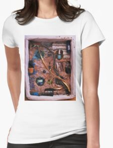 Snake in a box - inspired by Joseph Cornell boxes Womens Fitted T-Shirt