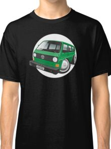 VW T3 bus caricature green Classic T-Shirt