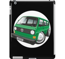 VW T3 bus caricature green iPad Case/Skin