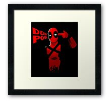 deadpool hand guns Framed Print