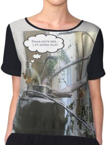 Prison Break! Please Don't Tell Anyone I Am Almost Out! Chiffon Top