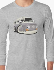 VW T2 bus caricature grey Long Sleeve T-Shirt