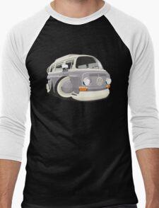 VW T2 bus caricature grey Men's Baseball ¾ T-Shirt
