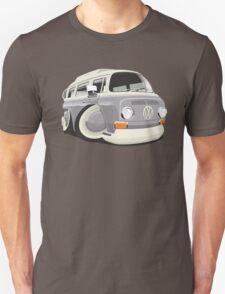 VW T2 bus caricature grey Unisex T-Shirt