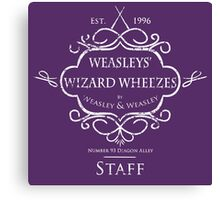 Weasleys' Wizard Wheezes Staff Shirt Purple Canvas Print