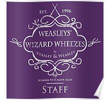 Weasleys' Wizard Wheezes Staff Shirt Purple Poster