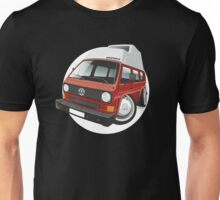 VW T3 camper caricature red Unisex T-Shirt