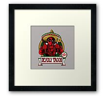 deadly tacos Framed Print