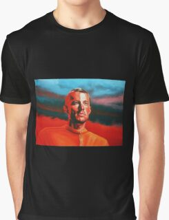 Lance Armstrong Painting Graphic T-Shirt