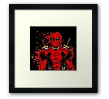 deadpool drips Framed Print