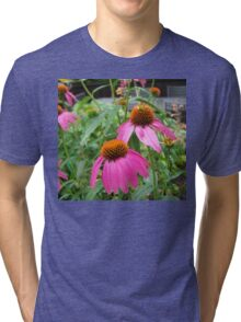 Vibrant Purple Coneflower Tri-blend T-Shirt
