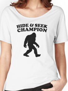 Bigfoot Hide And Seek Champion Women's Relaxed Fit T-Shirt