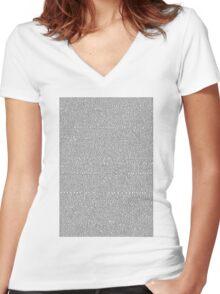 Shrek Script Women's Fitted V-Neck T-Shirt