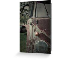 Rat Look VW Split Screen (Splitty) Van Image Greeting Card