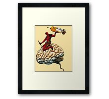 deadpool kill brain Framed Print