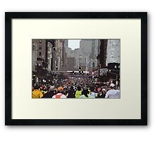 Boston Marathon Cutout Framed Print
