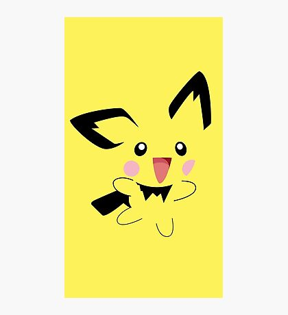 Michu Minimal (Pokemon) Photographic Print