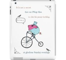 PiGgy riding a penny-farthing iPad Case/Skin