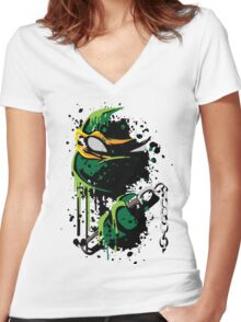 Cowabunga - Mike Women's Fitted V-Neck T-Shirt
