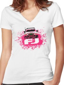 Pink FJ Women's Fitted V-Neck T-Shirt