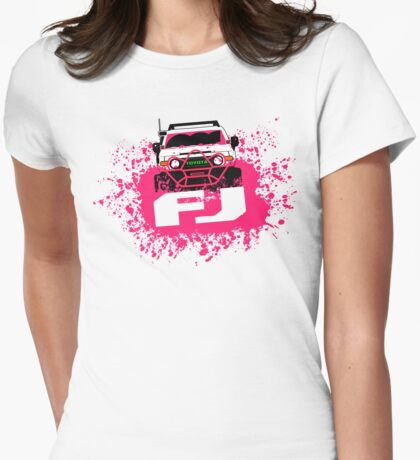 Pink FJ Womens Fitted T-Shirt