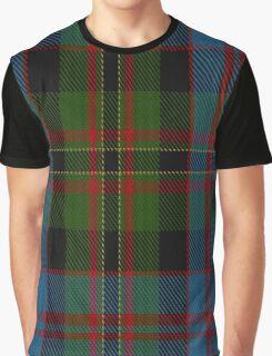 00551 Bowie, Black Clan/Family Tartan  Graphic T-Shirt