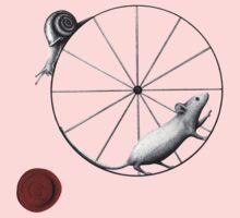 Dilemma; snail has the upper hand Kids Tee