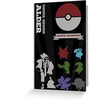 Alder Champion Poster (Pokemon) Greeting Card