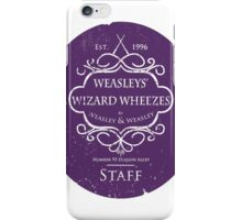Weasleys' Wizard Wheezes Staff Purple Variation iPhone Case/Skin