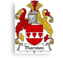 Thornton Coat of Arms / Thornton Family Crest Canvas Print