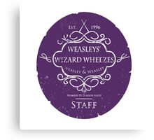 Weasleys' Wizard Wheezes Staff Purple Variation Canvas Print