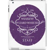 Weasleys' Wizard Wheezes Staff Purple Variation iPad Case/Skin