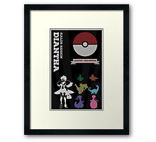 Dianthia Champion Poster (Pokemon) Framed Print